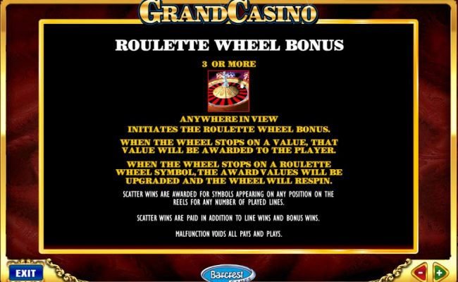 roulette wheel bonus feature rules and how to play