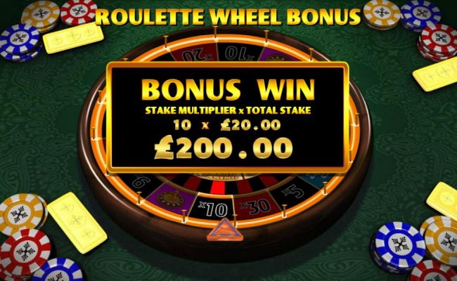 the roulette wheel will automatically start spinning - you win the prize when it stops- here the wheel landed on the 10x multiplier - Casino Bonus Beater