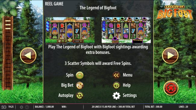 Casino Bonus Beater image of Legend of Big Foot