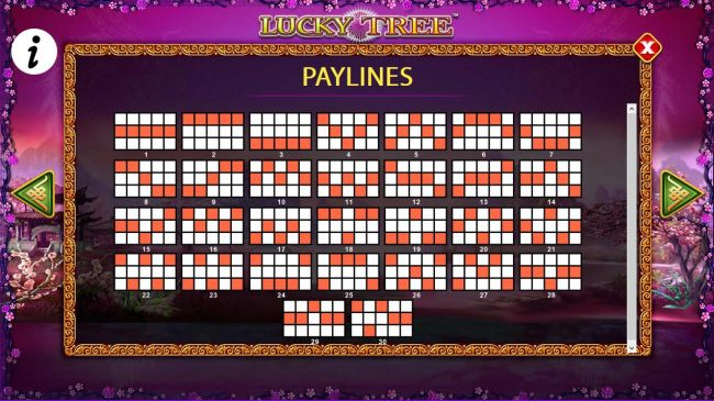 Payline Diagrams 1-30