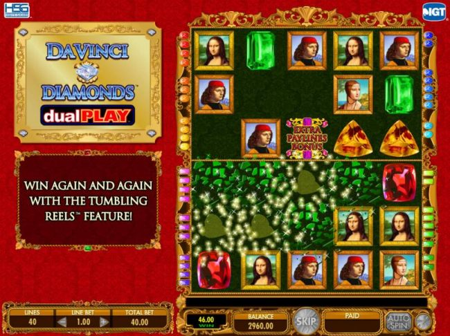 Casino Bonus Beater - All winning symbols are removed for the game board during the Tumbling Reels