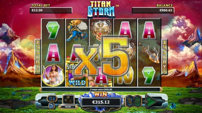 A five of a kind triggers the x5 multiplier for a big line win! - Casino Bonus Beater