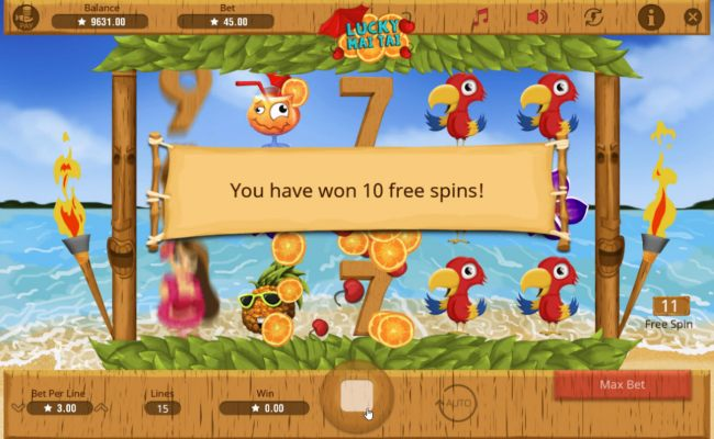 Free spins can be re-triggered during the free spins feature