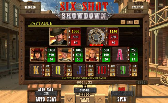 Six Shot Showdown by Casino Bonus Beater