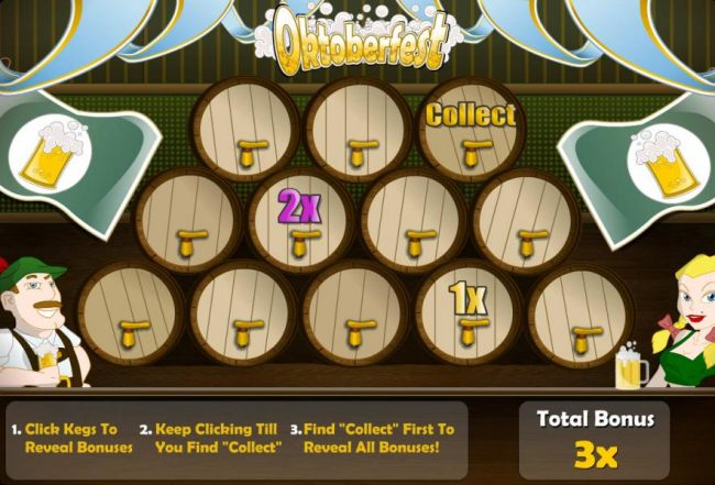 Casino Bonus Beater - Select kegs until you find the collect