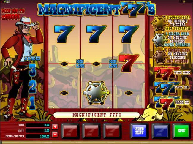 main game board featuring 3 reels and one payline by Casino Bonus Beater