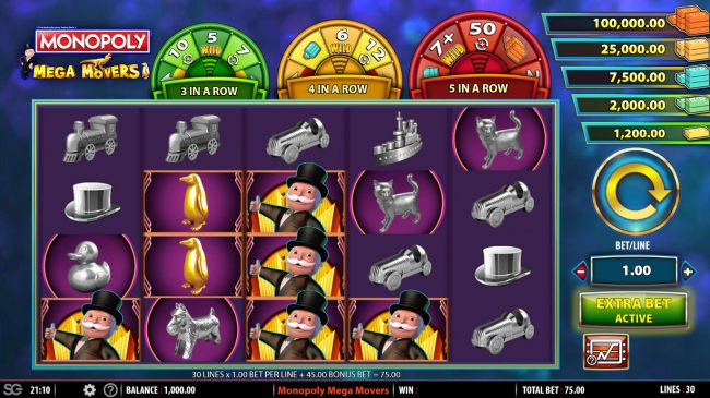 Casino Bonus Beater image of Monopoly Mega Movers