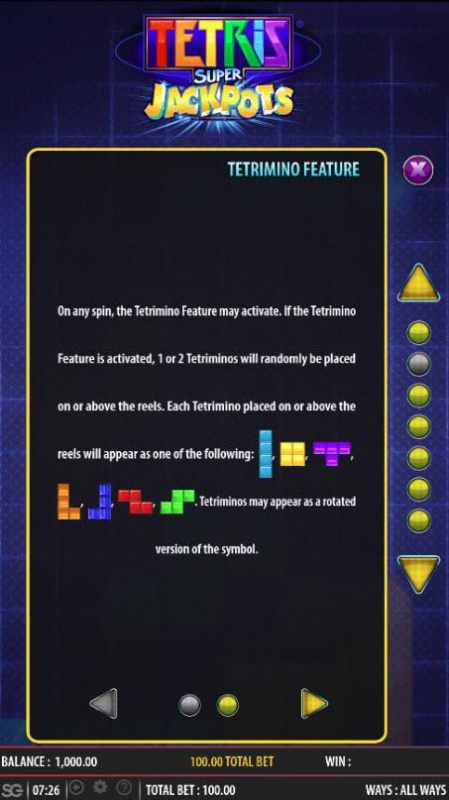 Tetris Super Jackpots screenshot