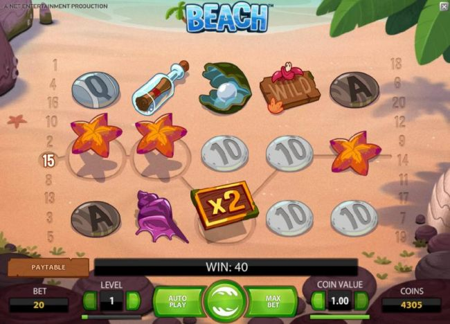a 40 coin jackpot was triggered after the octopus wild swapped the two symbols
