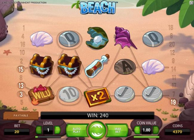 a 240 coin big win triggered by the octopus wild