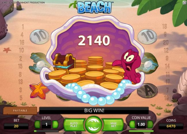 2140 coin big win triggered by another octopus wild swap