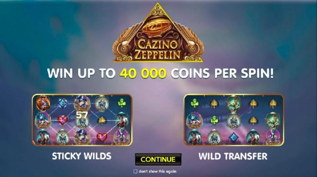 Win up to 40,000 coins per spin, Sticky Wilds and Wild Tranfer are some of the features of this game.
