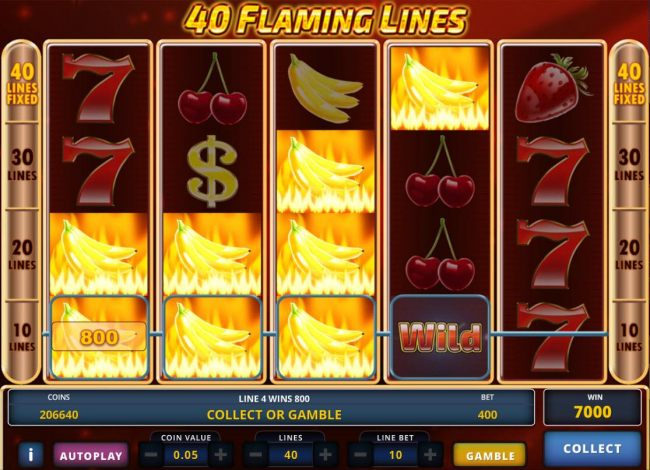 Banana symbol align to form multiple winning paylines triggering a 9600 coin jackpot.