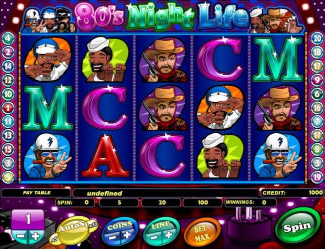 classic five reel video slot game with 20 paylines