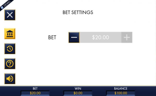 Click on the side menu button to adjust the coin value.