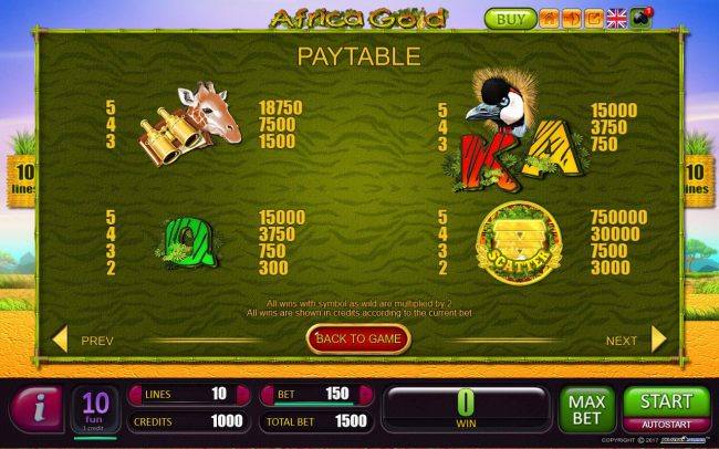 Low value game symbols paytable and Scatter Pays
