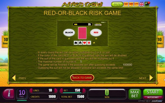 Red-Or-Black Risk Game Rules