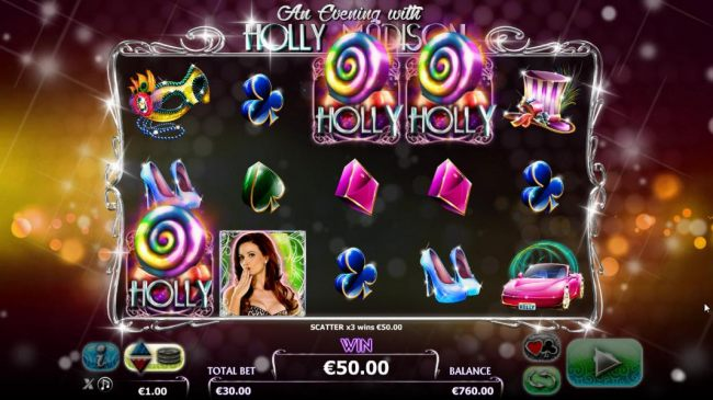 Three Holly symbols triggers the Free Spins Feature