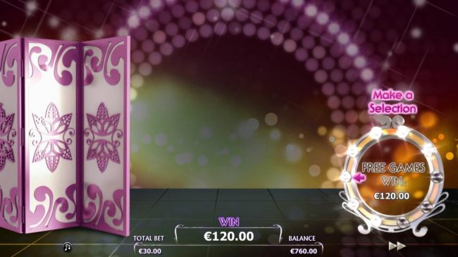 Photoshoot Bonus Game Board - A lightbuld is lit around the mirror for each kiss that was collected during the free spins
