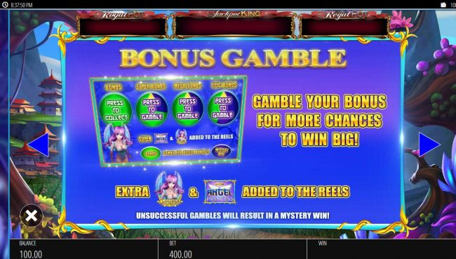 Bonus Gamble Rules