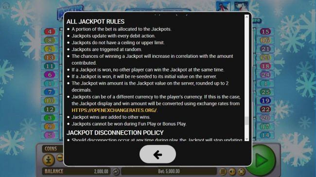 Jackpot Feature Rules