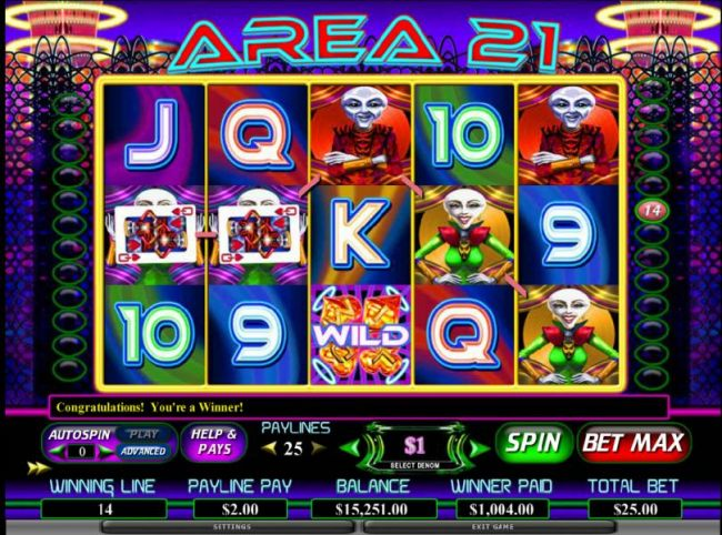 1004 coin jackpot triggered with two queens