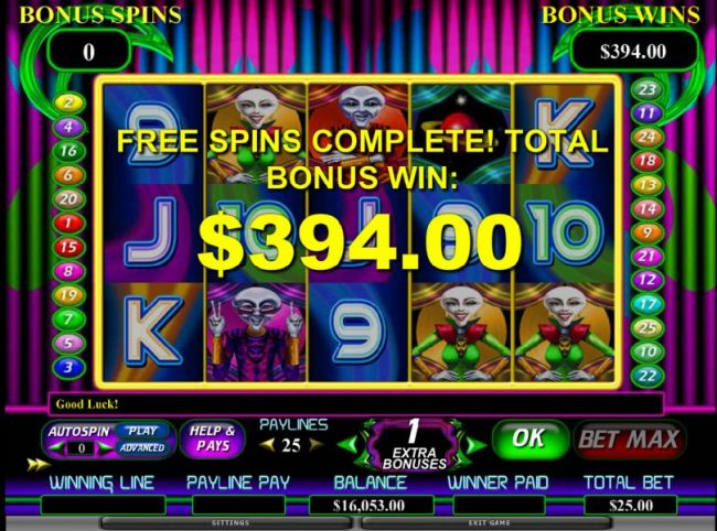 nice 394 coin jackpot. the free spins can also be re-triggered