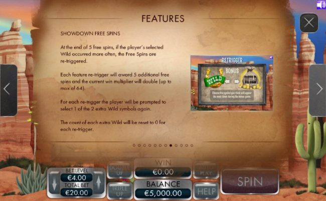 Showdown Free Spins Game Rules.