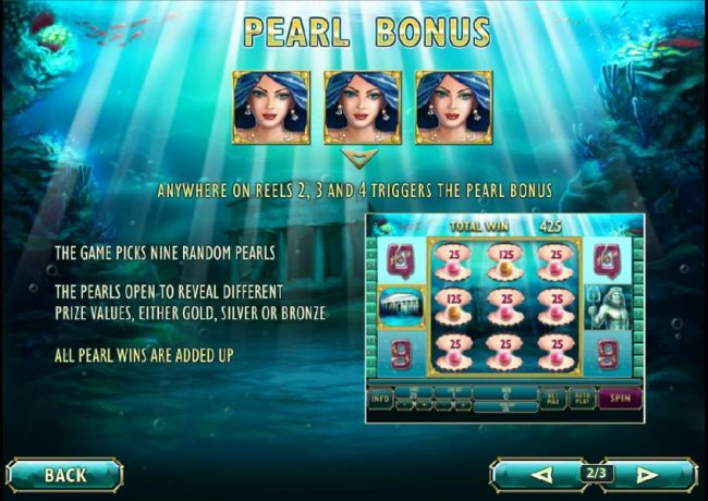how to play the pearl bonus feature