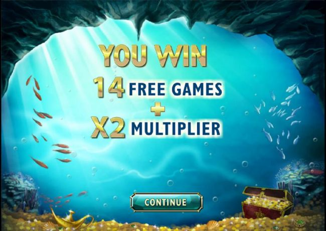 14 free spins with a 2x multiplier have been awarded
