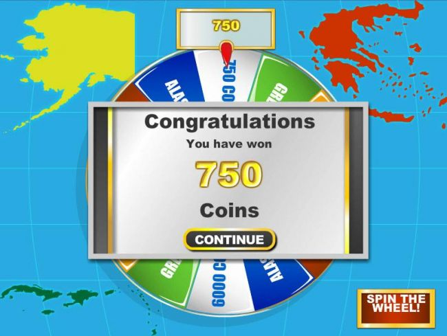 bonus feature pays out 750 coins fo a big win