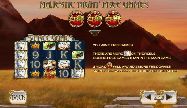 Majestic Night Free Games Rules