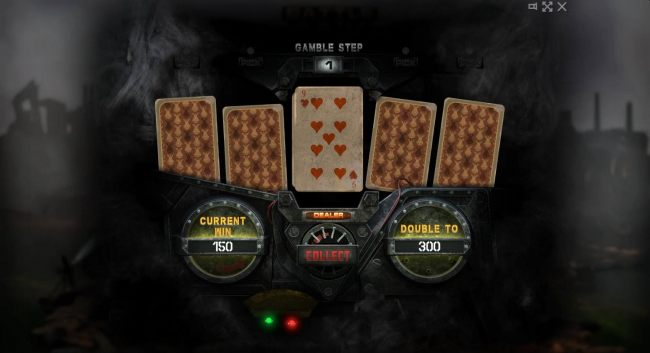 Beat The Dealer - Double or Nothing Gamble Feature Game Board - Select a card that is higher than the dealers for a chance to double your winnings.