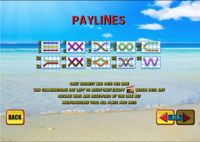 20 paylines layout configuration