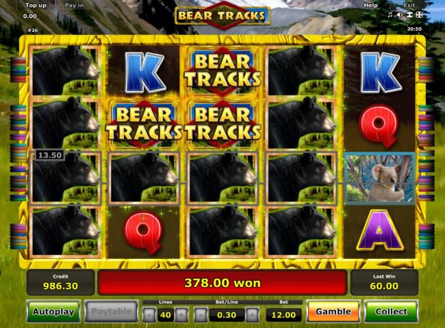 Another winning jackpot triggered during the Free Games feature.