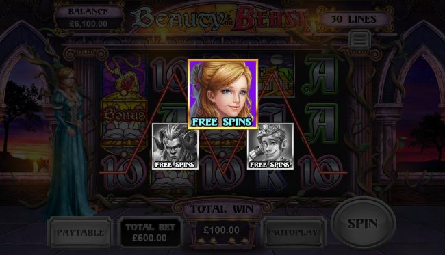 Beauty Free Spins selected