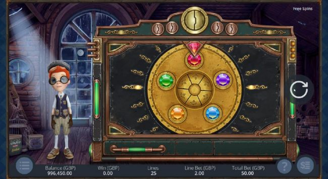Click the spin button to start the wheel and watch to see what gemstone it lands on.