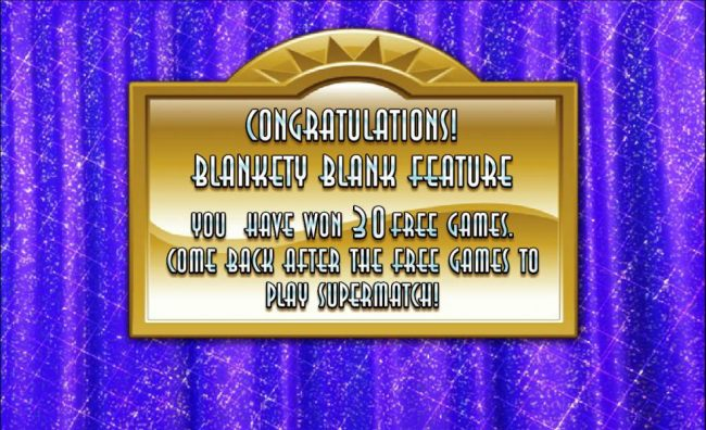 30 free games awarded