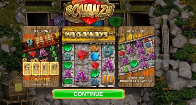 Game feaures include Free Spins, Unlimited Win Multiplier, Megaways and Win Reactions.