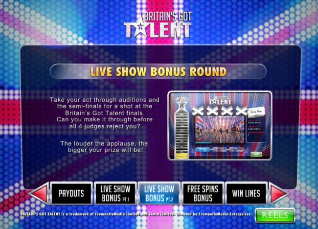 Live Show Bonus Round - The louder the applause, the bigger your prize will be.