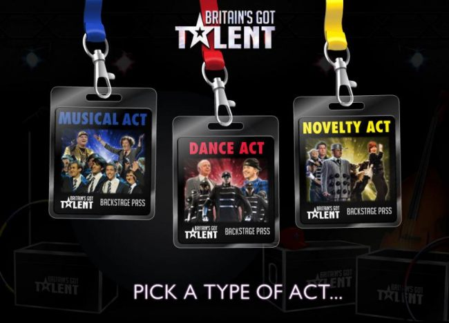 Select an type of act
