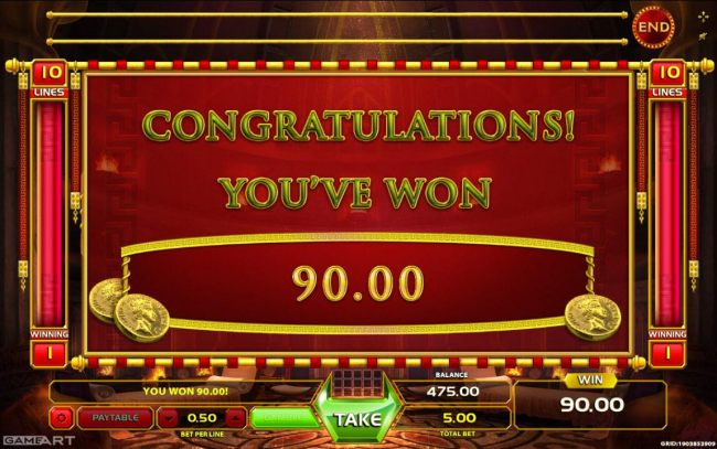 Total Free Spins Payout 90 coins