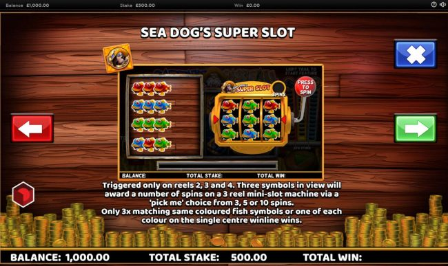 Sea Dogs Super Slot Rules