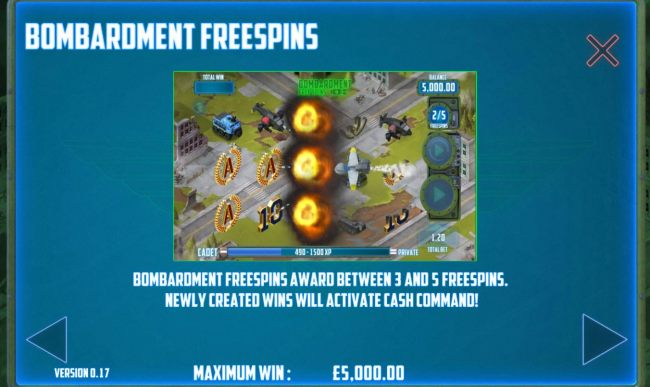Bombardment Free Spins Rules