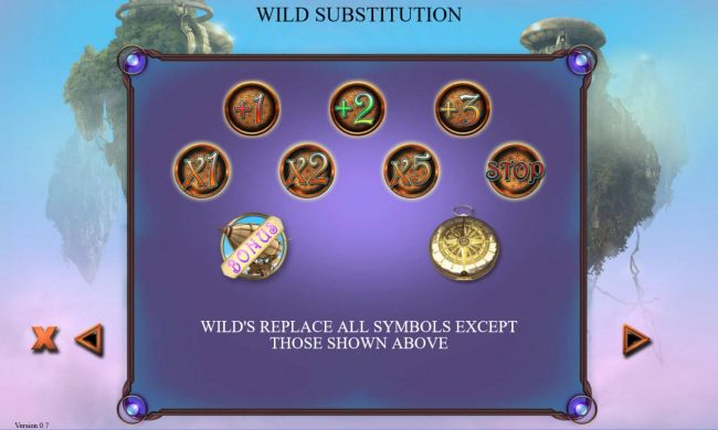 Wilds replace all symbols except those shown here