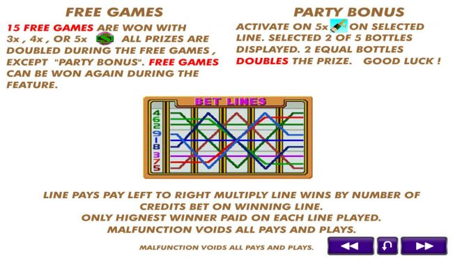 Free Games and Party Bonus Rules