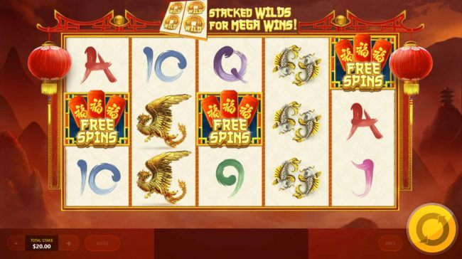 Free Spins scatter symbols triggers the bonus feature.