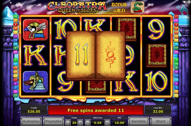 An additional 11 Free Spins awarded