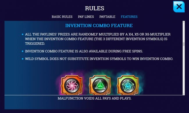 Invention Combo Feature Rules