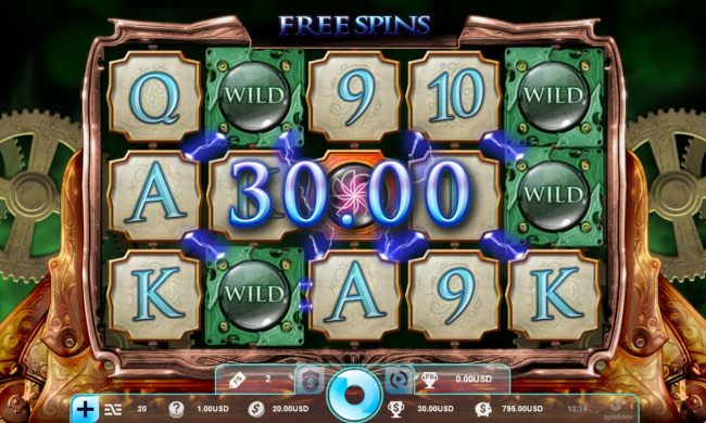 Free Spins Game Board - Featuring Sticky Wilds